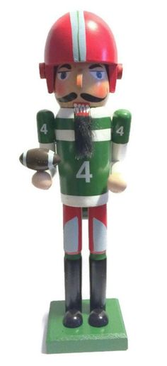 "Decorative Football Player 14"" Nutcracker"