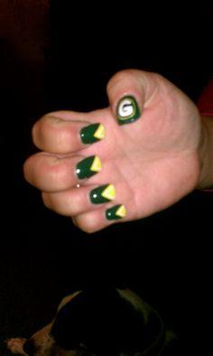 Even my nails know better Acrylic Nail Art, Acrylic Nail Designs, Packer Nails, Football Nail Art, Nail Desighns, Green Packers, Tough As Nails, Unicorn Nails, Amazing Nails