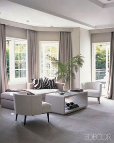Jennie Abbot Interiors - curtains of Castel wool in sitting area