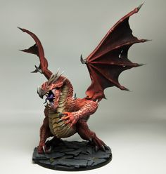 Sorn's Mierce Miniatures Painted by The Best Painters Out There - Page 6 - Forum - DakkaDakka Fantasy Dragon, Dragon Art, Fantasy Art, Red Dragon, Dragon Miniatures, Fantasy Miniatures, Dungeons And Dragons Figures, Tabletop, 3d Prints