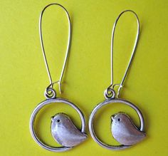 SILVER BIRDIES earrings are soooooo charming. $7.00.