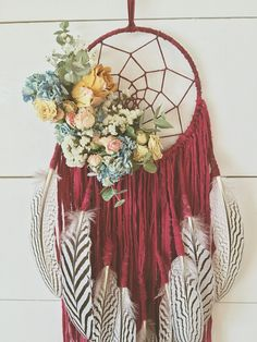 """The Isabel With her Wild LOVING ENGERY, The Isabel helps to bring Romance and Warmth back into the space that she holds. Put The Isabel Dreamcatcher in your most sacred space and feel the LOVE FLOW XO Dimensions: 6"""" W x 50"""" L"""