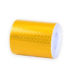 5 센치메터 x 3 메터 작은 광장 자체 접착 반사 경고 테이프 노란색 흰색 자동차 경고 스티커 안전 스티커