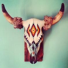 KIA ORA ♡ My office #sanctuary pride ♡ #Native #american #Indian  #Buffalo #Skull Shinning on my wall ♡ #MilagrosMundo #urban #hippy #lifestyle #interior #Amsterdam ♡ #Netherlands