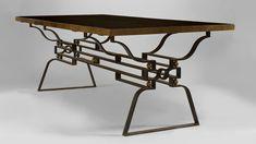Decoration versus functionalism table, 1950s