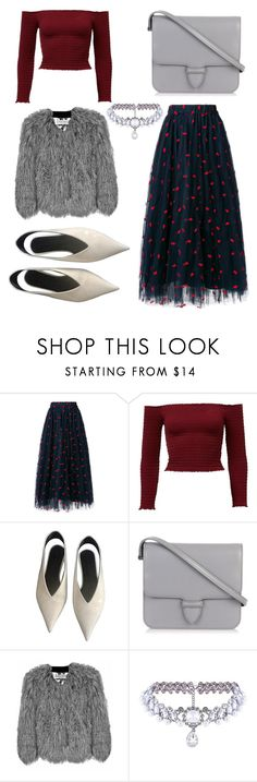 """She drinks Matchas for a living 🍵"" by tynab01 ❤ liked on Polyvore featuring P.A.R.O.S.H., CÉLINE, Alaïa, Florence Bridge and WithChic"