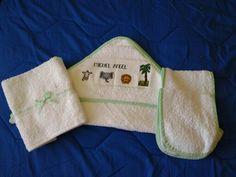Toallas para bebe bordadas en punto de cruz