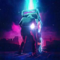 ⚡Retro Vaporwave Gamer⚡  artwork beeple_crap animation alexwestaway & werbleapp  #vaporwave #retro #gamer #arcade Art Cyberpunk, Cyberpunk Aesthetic, Space Artwork, Cool Artwork, Amazing Artwork, Art Vaporwave, 1440x2560 Wallpaper, New Retro Wave, Futuristic Art