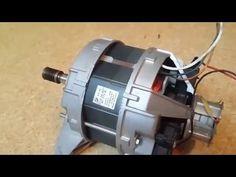 Moteur de machine à laver + régulateur vitesse - YouTube