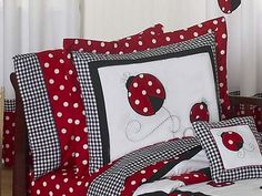 Red and White Polka Dot Ladybug Toddler Bedding 5 pc set by Sweet Jojo Designs:Amazon:Baby