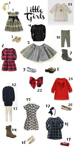 Adorable outfits for your little girl's holiday pictures! Featuring clothing from DLK, Janie & Jack, Gap, Old Navy, and Nordstrom. #FashionFriday #holidays