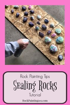 Learn how to seal painted rocks with these simple techniques. There are a lot of different variables that go into properly sealing your painted rocks. These tips and step by step instructions will break it down so you can paint rocks for outdoors. Rock Painting Patterns, Rock Painting Ideas Easy, Rock Painting Designs, Paint Designs, Pebble Painting, Pebble Art, Stone Painting, Shell Painting, Matte Painting