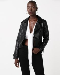 Glamzza Dylan Faux Leather Jacket Black Black Faux Leather Jacket, Faux Leather Jackets, Buy Shoes, Fashion Outfits, Fashion Trends, Fashion Online, Stuff To Buy, Clothes, Outfits