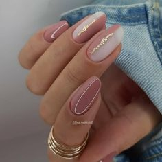 Chic Nails, Stylish Nails, Trendy Nails, Cute Acrylic Nails, Acrylic Nail Designs, Gel Nails, Gold Nail Art, Coffin Nails, Ongles Beiges