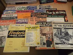 23 x job lot old vintage choir #choral song piano sheet music #1920s #onwards,  View more on the LINK: http://www.zeppy.io/product/gb/2/282010716499/