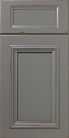 The S215 Trestle Signature Series Design is a Mortise & Tenon constructed cabinet door featuring an Applied Molding and our City Gray SolidTone (paint) with a Rub Through (RBT100) finish (Learn more about Rub Through Finish options).