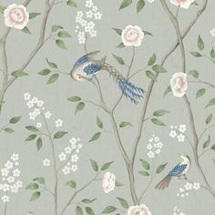 With Chinese inspired artwork, Paradise Birds wallpaper in green creates a luxury aesthetic in bedrooms. Be inspired by our Oriental Dreams collection! Easy Up, Bird Wallpaper, Nocturne, Oriental, Paradise, Birds, Rugs, Awesome, Artwork