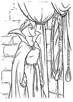Disney Snow White Coloring Page. Blanche Neige à colorizer.