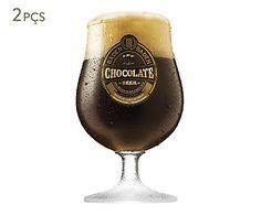 Jogo de Taças para Cerveja Baden Chocolate