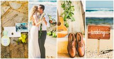Andrea and Danny's intimate, zero-stress wedding focused around spending quality time with their two families in a beautiful, relaxing location.  They set their sights on a tropical, island style beach wedding celebration, adorning it in hues of dusty rose, white, cream, and light grey. Read More...