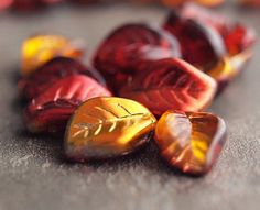 Hey, I found this really awesome Etsy listing at https://www.etsy.com/listing/163771815/fall-leaves-metallic-czech-glass-bead