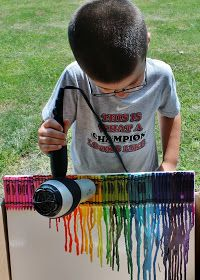 Mama Shona: 4H Project -- Crayon Canvas Art!
