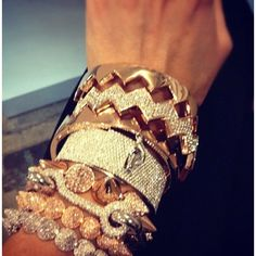 bling bling! spikes, diamonds, gold what more does a girl want on her arm LOL