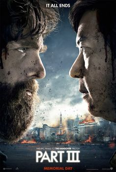 The Hangover Part III Movie Poster. The first poster for The Hangover Part III, starring Bradley Cooper, Zach Galifianakis, Ed Helms, and Ken Jeong. Zach Galifianakis, New Movies, Movies To Watch, Good Movies, Movies Online, Upcoming Movies, 1990s Movies, Funny Movies, Latest Movies