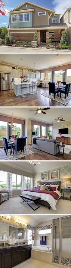 New construction in Central Houston! The 2-story Clarksdale plan in Knoll Landing just outside the 610 loop offers over 2100 Sq. Ft. of living and entertaining space!