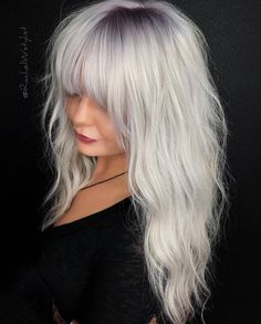 Modern Medium to Long Hairstyles, Ombre Balayage Hair Styles for Women Platinum Blonde Hair Color, Blonde Ombre, Blonde Color, Ombre Hair, Balayage Hair, Balayage Color, Ash Blonde, Hair Colour Design, Medium Long Hair