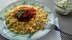 Sárgaborsós-bulgur, hagymatokánnyal Risotto, Grains, Ethnic Recipes, Food, Bulgur, Essen, Meals, Seeds, Yemek
