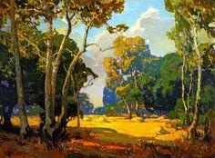 Franz Bischoff (American Impressionist, 1864-1929) 'Summer Afternoon'