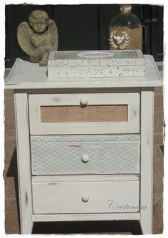 Annie Sloan chalk paint Decor, Filing Cabinet, Annie Sloan Chalk Paint, Painted Furniture, Furniture, Shabby, Nightstand, Home Decor, Chalk