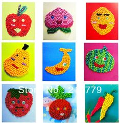 516385 Vegetables And Fruits Arts Crafts