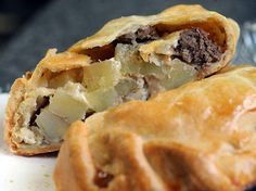 Beef and cheese pasty made fresh from Tonmblers Home Bakery located at 1350 Industrial Drive Easton.