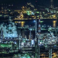 . #factorynightview #japan_night_view #水島コンビナート #岡山県