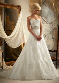 Mori Lee style #1913 beautiful lace ballgown.