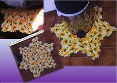 Ponto a ponto e, pronto!: PAP tapete de crochê-estrela de 6 pontas