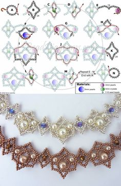 Perlen gefädelt Royal Lace necklace easy and safe bathroom planning In the modern world not only eve Diy Necklace Patterns, Beaded Jewelry Patterns, Seed Bead Tutorials, Beading Tutorials, Bead Jewellery, Seed Bead Jewelry, Armband Swarovski, Amethyst Armband, Handmade Bracelets