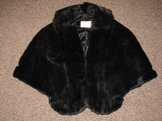Capelet  vintage 1960's Hand Crafted Faux Fur by TheIDconnection