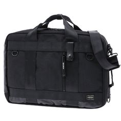 Porter Heat 3 Way Briefcase. Ref : 703-06980. Size: W420/H305/D115. Color : Black. Main Fabric: Ballistic Nylon Canvas ( Nylon 100 %). Bottom of the bag : Tarpouline Lining Fabric: Nylon Canvas ( Nylon 100% ). Additional: Each bag comes with a porter orifinal Maglight as a zip puller.