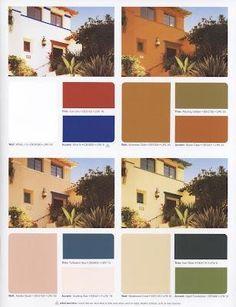 Spanish Mediterranean Colors Spanish Colonial Paint Colors Pinterest Exterior Paint Colors