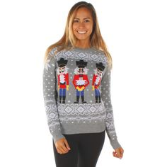 Shop Tipsy Elves Women's Christmas Jumper - The Nutcracker Funny Christmas Jumper Size XXL Red. Funny Christmas Jumper, Womens Christmas Jumper, Christmas Sweaters For Women, Christmas Jumpers, Christmas Clothing, Nutcracker Sweet, Tipsy Elves, Ugly Sweater, My Style