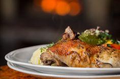 """Danie dnia: Udko pieczone z kurczaka. Restauracja Biesiada z """"Hudym Smalcem"""" #food #jedzenie #restauracja #Kraków"""