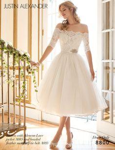 Summer wedding with embellished rose gold belt.