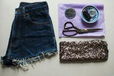 DIY: Sequin shorts - Girlscene