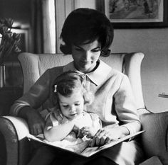 1960 - Jacqueline Kennedy & Daughter Caroline - By Eve-Arnold, American Photographer