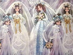 Vintage Wrapping Paper - Happy the Bride - One Sheet Gift Wrap - CPS Industries. $5.00, via Etsy.