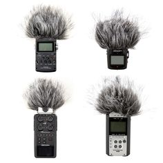Black Fur Windscreen For Zoom H4N H6 H2 H4 Handheld Recorder Sony PCM-D1 D50 #NB