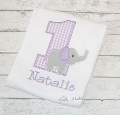 Girl's Elephant Personalized Birthday Shirt, Elephant Birthday Shirt, Elephant Shirt, Zoo birthday, Jungle Birthday, Choose your fabrics by thesimplyadorable on Etsy